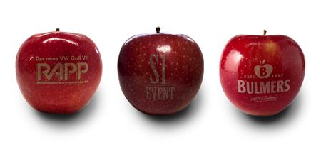 Der Logo Apfel - ein Werbemittel der besonderen Art. (Foto: S1 Event)