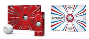 Callaway Chrome Soft und Callaway Super Soft als Logo Golfbälle bei S1 Event. (Foto: Callaway)