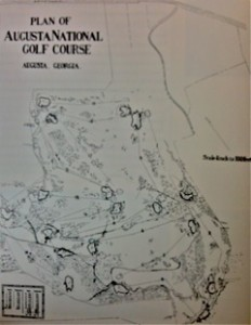 Meisterwerk: Alister MacKenzies Plan von Augusta National. (Foto: Michael F. Basche)