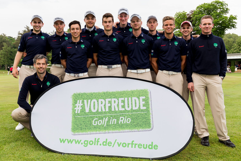 Der GC Hubbelrath freut sich über fünf Punkte und auf Olympia #VORFREUDE - Golf in Rio (Foto: DGV/Tiess)