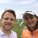 Matthias Gräf (l.), im Gespräch mit Karolin Lampert. (Foto: Golf Post)