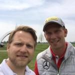 Matthias Gräf (l.) im Gespräch mit Marcel Siem. (Foto: Golf Post)