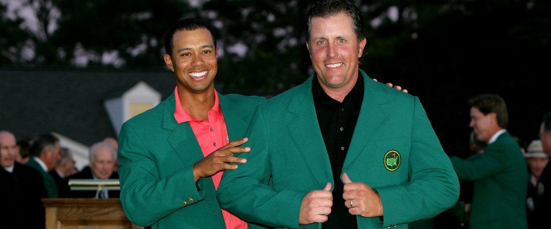 Tiger Woods und Phil Mickelson sind nicht mehr die Jüngsten. Doch bei den Fans stehen die beiden ehemaligen Masters-Sieger hoch im Kurs. (Foto: Getty)