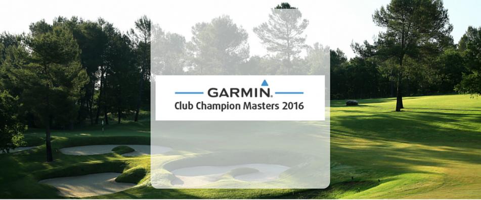 Neu in 2016: Garmin Club Champion Masters!