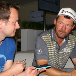 Alex Cejka im Gespräch mit Golf Post. (Foto: Golf Post)