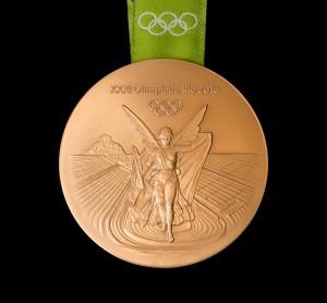 Rückseite der Olympischen Medaillen 2016. (Foto: Getty)