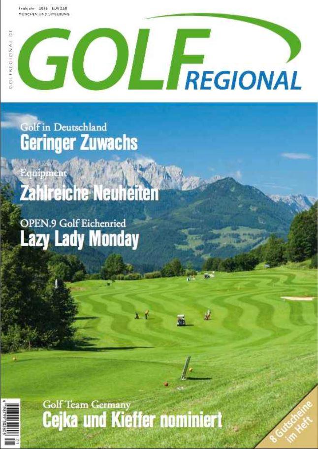 Die GolfRegional Titelseite vom Frühjahr 2016. (Foto: Par Verlag)