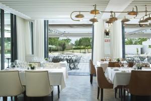 Restaurant im direkt am Platz gelegenen Hotel Camiral (Foto: PGA Catalunya Resort)