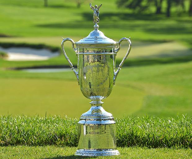 Die US Open Golf Trophäe