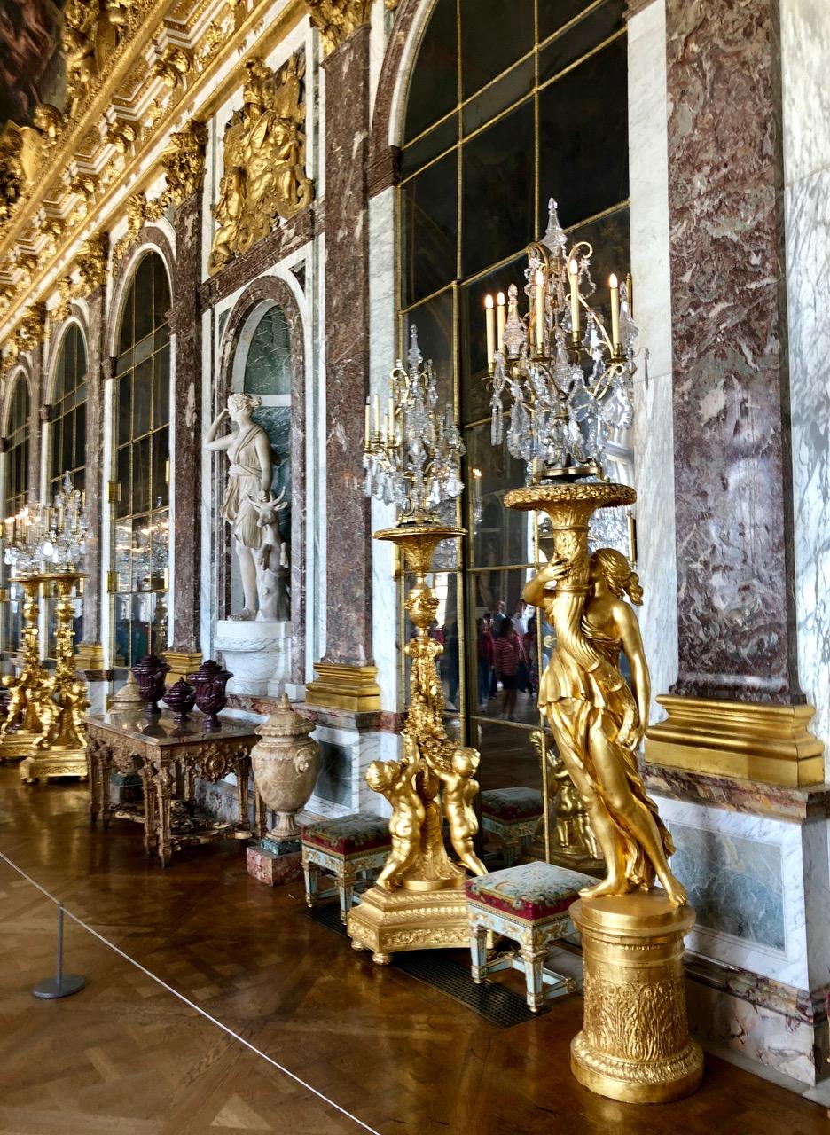 Prunk und Gold im Schloss der Könige in Versailles. (Foto: Jürgen Linnenbürger)