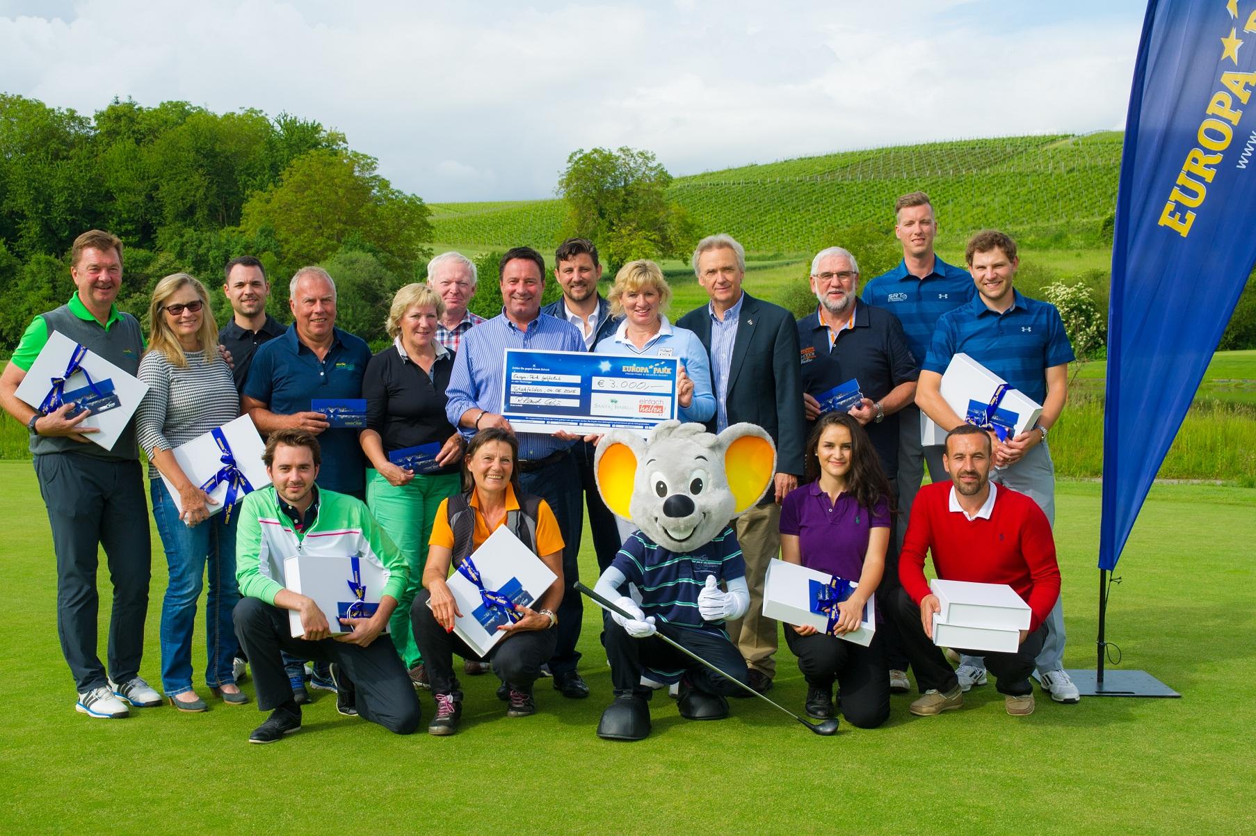 Euromaus Charity Golfcup: 3.000 Euro für den guten Zweck
