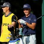 Rickie Fowler hat am ersten Tag der PGA Championship mal wieder etwas zu lachen. (Foto: Getty)