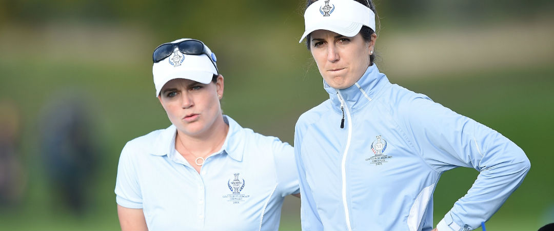 Caroline Masson (links) und Sandra Gal, hier beim Solheim Cup 2015. (Foto: Getty)