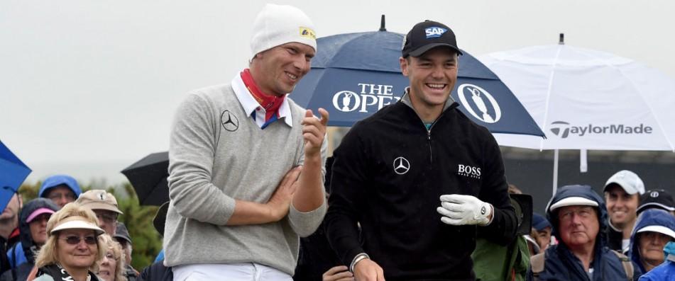 Ob Martin Kaymer und Marcel Siem bei der Scottish Open genau so gute Laune haben wie bei der Open letztes Jahr, wird sich am Wochenende zeigen. (Foto: Getty)