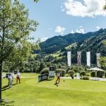 Atemberaubende Kulisse für ein Golfturnier im GC Eichenheim in Kitzbühel (Foto: Mercedes Benz)