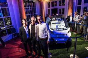 Moritz Lampert, Marcel Siem und Natanael Sijanta von Mercedes-Benz.