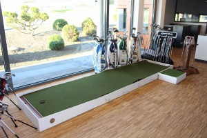 Das 4ProGo Putting Green im Profil im Kölner Golfclub (Foto: Golf Post)