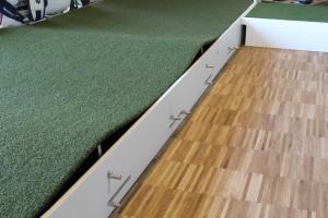 Verstellmöglichkeiten für bis zu 1.000.000 verschiedener Setups beim 4ProGo Putting Green. (Foto: Golf Post)