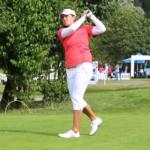 Karolin Lampert am Abschlag. (Foto: Golf Post)