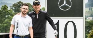Blick ins Bag: In Kitzbühel gemeinsam auf der Runde und danach im ausgiebigen Equipment-Interview - Johannes Eck (li. Golf Post Team) und Marcel Siem. (Foto: Golf Post)