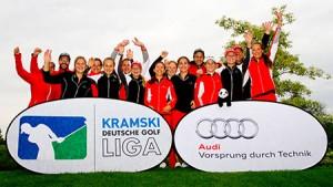 Der GC St. Leon-Rot mit professioneller Unterstützung - Karolin Lampert wird ihr Team unterstützen. (Foto: DGV)