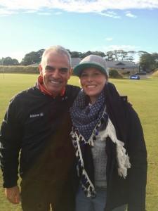 Sabrina Oesterwind mit dem Ryder-Cup-Kapitän 2014, Paul McGinley. (Foto: Sabrina Oesterwind)