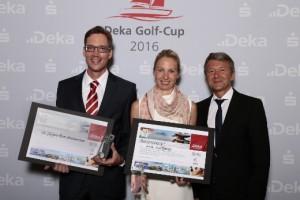 Die glücklichen Sieger des Golf-Cups.