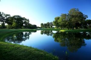 Wasser gibt es auf dem Hazeltine National Golf Course nicht zu knapp. (Foto: Getty)