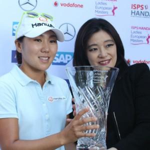 Eine stolze Siegerin: In-Kyung Kim in Düsseldorf. (Foto: Golf Post)