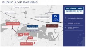 So parken sie nach Plan. Der Überblick über die Parkmöglichkeiten bei der Porsche European Open. (Quelle: European Open)