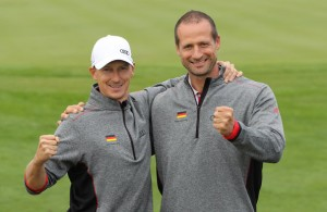 Glückliche Sieger: Sebastian Kaul, Gerit Flohr. (Foto: Audi Sports Communications)