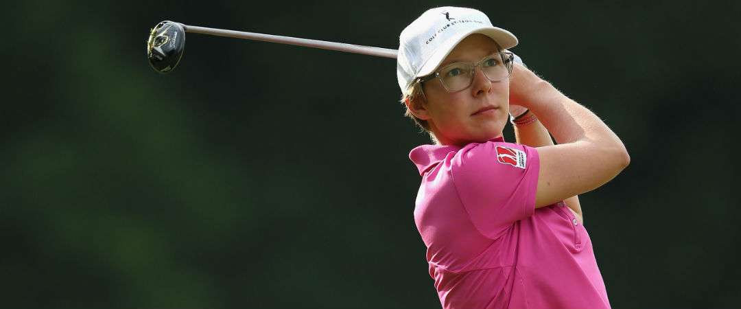 Ann-Kathrin Lindner bricht am Ende ihrer Runde bei Ladies European Tour Event in Frankreich ein. (Foto: Getty)