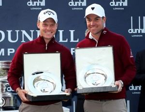 Danny Willett (l.) mit Jonathan Smart.