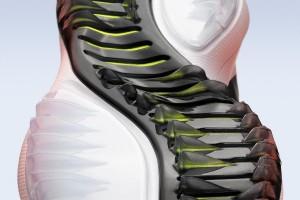 Die von Schneemobilen inspirierte Sohle des neuen Nike Lunar Control Vapor. (Foto: news.nike.com)
