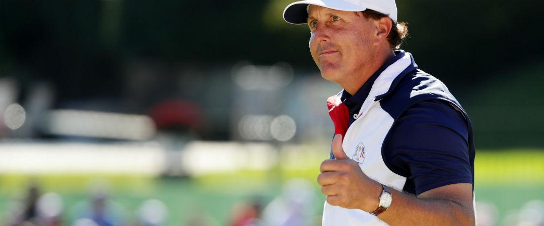 Vom Ryder Cup direkt wieder in die Saison: Phil Mickelson geht bei der Safeway Open auf der PGA Tour an den Start. (Foto: Getty)