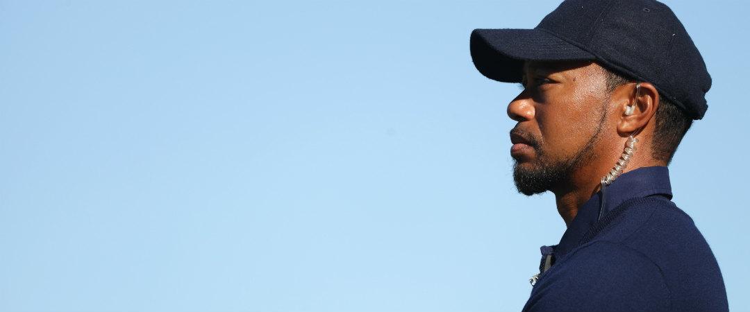 Bei einer Golf-Clinic der Tiger Woods Foundation griff Tiger Woods nach seiner Turnierabsage doch zum Schläger. (Foto: Getty)