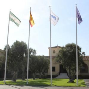 Empfangsgebäude im Valderrama Golf Club (Foto: Golf Post)