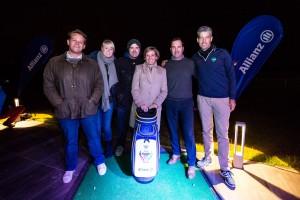 """Die Organisatoren (Golf Post und """"Wir lieben Golf"""") und Partner (Allianz und West Golf) des ersten Allianz Shootouts präsentieren den Hauptpreis. (Foto: Steffie Wunder)"""