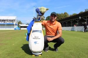 Selbst der künftige European Tour Spieler Bernd Ritthammer will die Macht auf seiner Seite wissen und lässt Meister Yoda über seinen Driver wachen. (Foto: Golf Post)