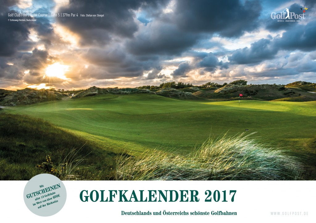 Der Golf Post Golfkalender 2017: Jetzt im Shop erhältlich. (Foto: Golf Post)