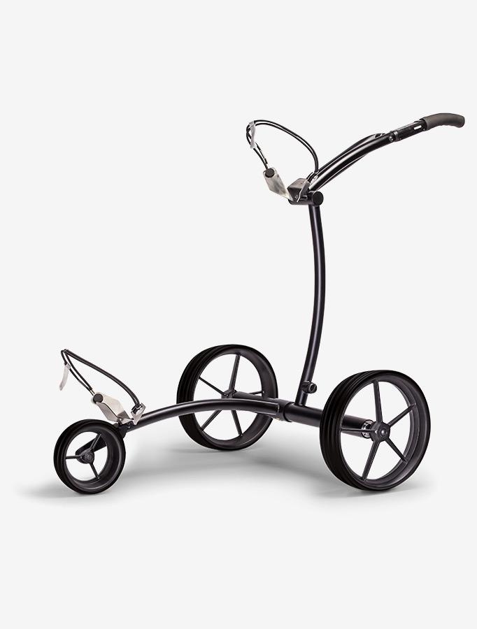 Der K1 Elektro-Trolley setzt auf Qualität und schnörkelloses Design. (Foto: Kiffe Golf)