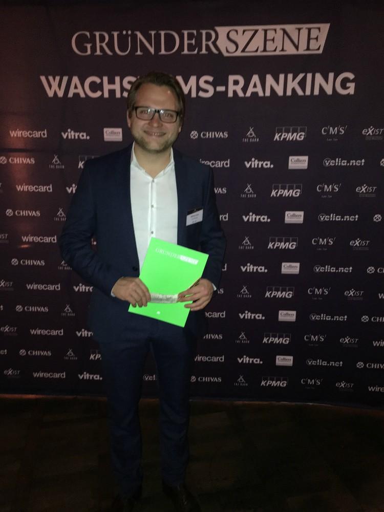 Gründer und Vorstand von Golf Post, Matthias Gräf, bei der Preisverleihung. (Foto: Golf Post)