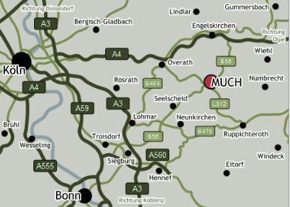 Anfahrt zum Golf Club Burg Overbach