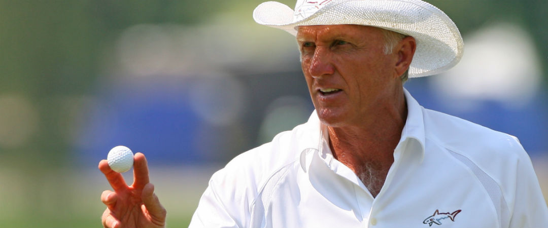Auch wenn sich seine aktive Zeit auf dem Golfplatz in Grenzen hält, Greg Norman ist weiter dick im Geschäft. (Foto: Getty)