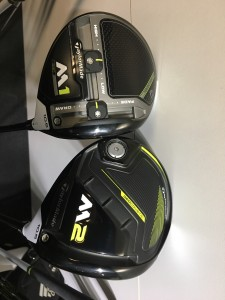 Im Vergleich wird deutlich, dass der M1 Schlägerkopf etwas kleiner ist als der des M2 Drivers. (Foto: Golf Post)