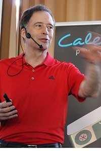 Mark Broadie während seines Vortrags. (Foto: Golf Post)