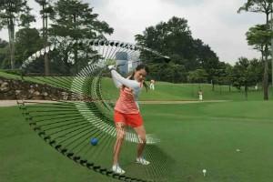 """Die Appfunktion """"Swing Tracer"""" stellt den gemachten Schwung nach, (Foto: Visual Vertigo)"""