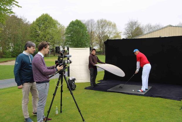 Vom englischen Kamerateam wurden die neuen Werbestars gekonnt in Szene gesetzt. (Foto: Golf Post)