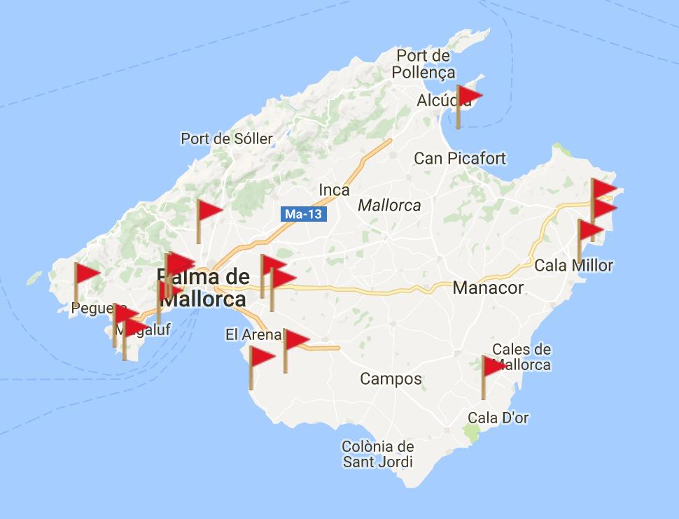 Golfplätze auf Mallorca im Überblick.