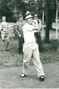 Betritt man das Clubhaus erblickt man ein Bild von Gary Player in Lebensgröße. (Foto: Golf- und Land- Club Köln)